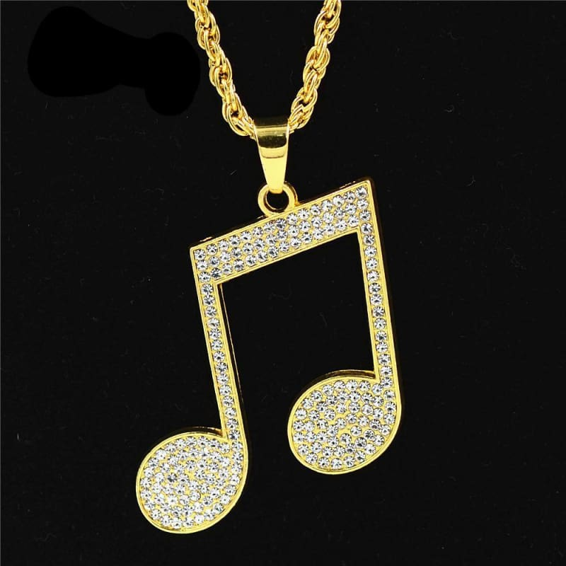 Iced out music note