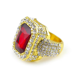Iced out Ruby Ring