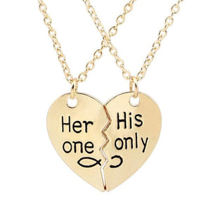Infinity Sweetheart Necklace - gold