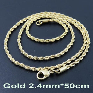 Multi Colored Rope Chains - Gold 50cm