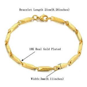 Multi Style Link Bracelet - Fish hook link gold