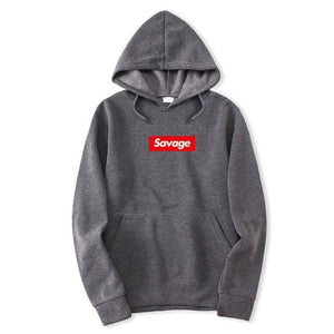 Savage Hoodies - Dark Gray / M - Hoodies & Sweatshirts