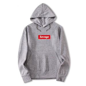 Savage Hoodies - Light Grey / M - Hoodies & Sweatshirts