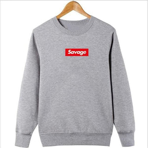 Savage Hoodies - Light Grey Sleeve / M - Hoodies & Sweatshirts