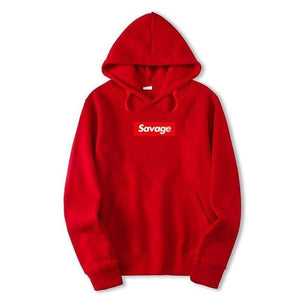 Savage Hoodies - Red / M - Hoodies & Sweatshirts