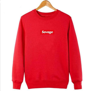 Savage Hoodies - Red Sleeve / M - Hoodies & Sweatshirts