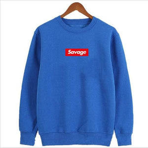 Savage Hoodies - Royal Blue Sleeve / M - Hoodies & Sweatshirts