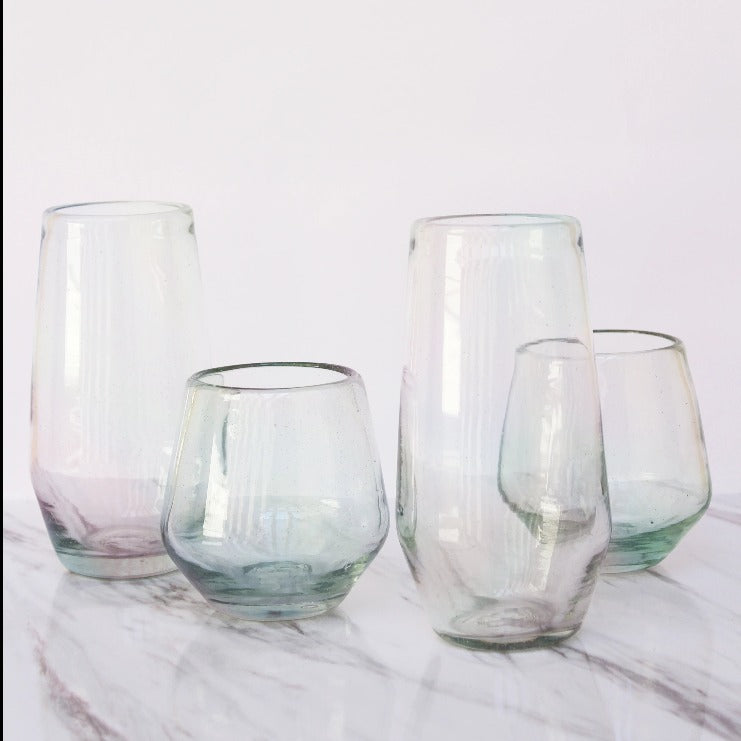 Set de 4 Vasos Diamante Alto Lustre