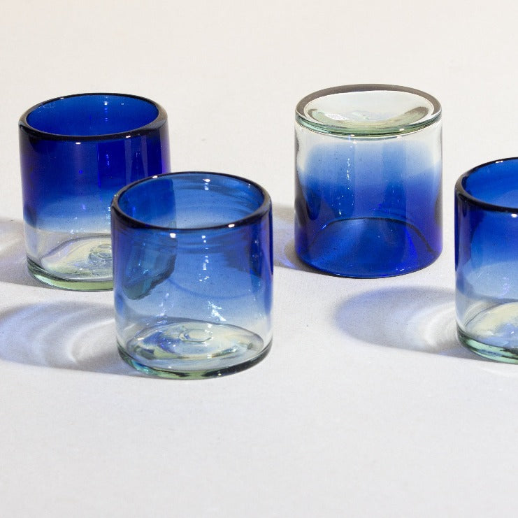 Set de 4 Vasos Old Fashioned Difuminado Azul
