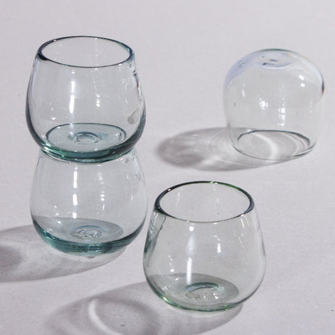 Set de 4 Vasos Short Wolis Transparente