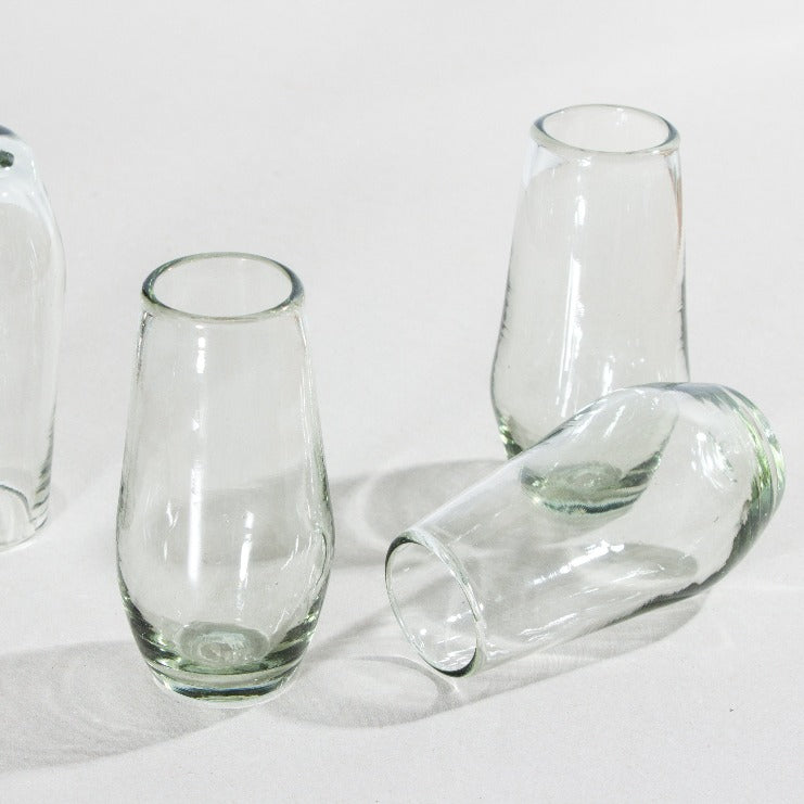 Set de 4 Vasos Diamante Alto Transparente