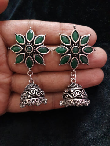 Premium Quality Stone Flower Jhumka Article 400025