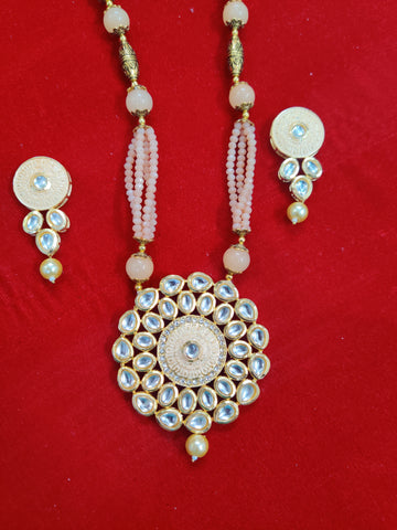 Kundan Meenakari Crystal Necklace Set O91809