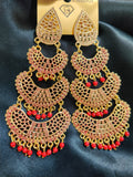 Ethnic Hand Painted Earrings Design 045