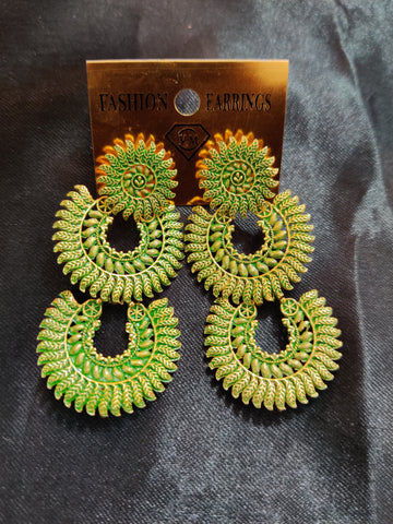 Ethnic Hand painted Earrings Design025