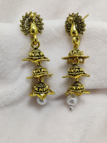 High Quality Peacock Pearl Small Jhumki