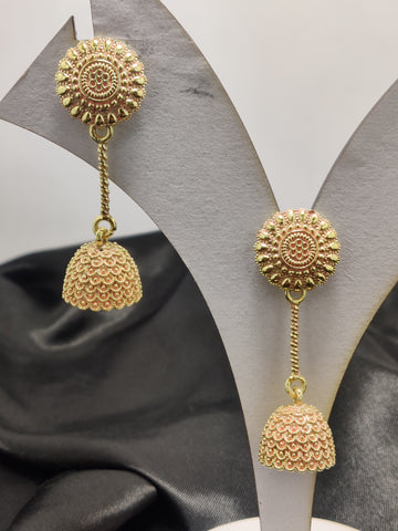 Meenakari Dome Shape Earrings Design2