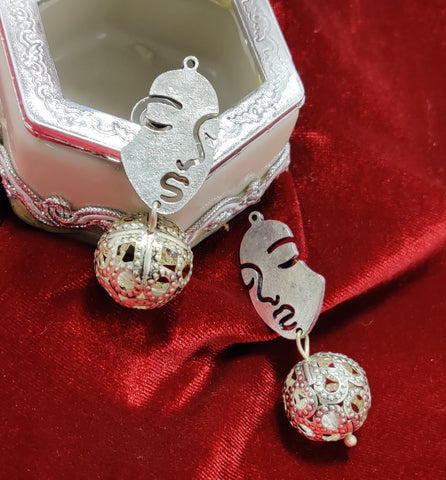 Oxidised Silver Face Jhumka OFFER PRICE