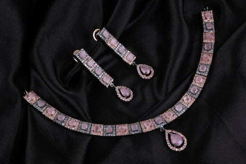 Premium Diamond Replica Necklace Code 96139PBRGW