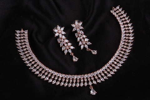 Premium Diamond Replica Necklace Code 97209RGSW