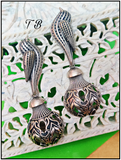 Premium Quality Antique Silver Replica Bird Matki Earrings