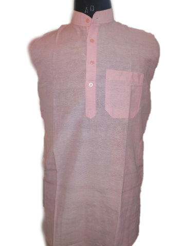 Handloom Plain Kurta ( Cotton ) - Light Pink