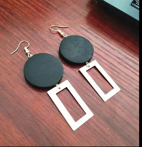 Wood Blade Earrings