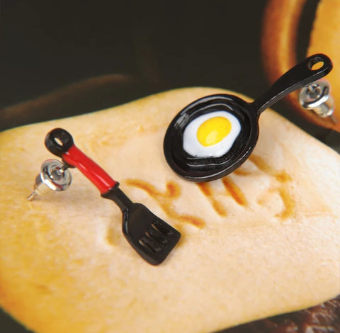 Egg Fried Pan Earrings