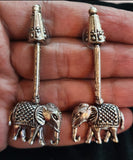 Oxidised Silver Hathi Mere Sathi Earrings A.1300.18