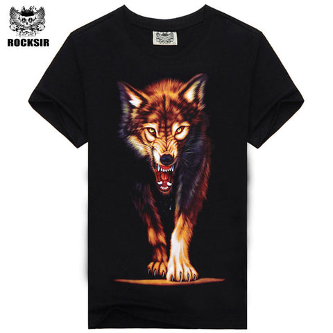 Rocksir 3d wolf t shirt mens Brand 3D Indians wolf Print t shirts Cotton wolves Men t-shirt Casual Man Tees Mens Tops-8