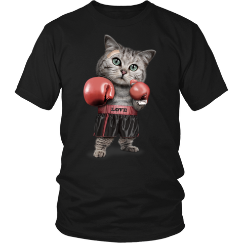 FUNNY Boxing Cat Lovers Gifts T-Shirts-2
