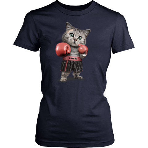 FUNNY Boxing Cat Lovers Gifts T-Shirts-8