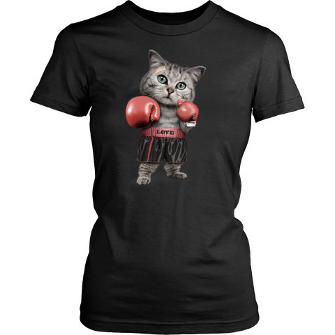 FUNNY Boxing Cat Lovers Gifts T-Shirts-7
