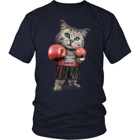FUNNY Boxing Cat Lovers Gifts T-Shirts-1
