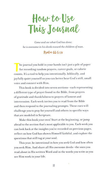 The Weekly Prayer Project Journal