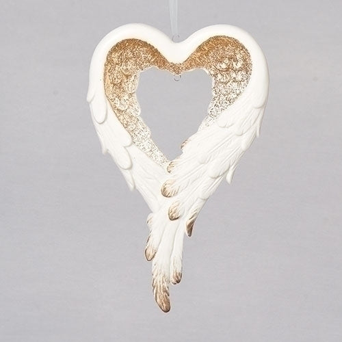 Feather Wings Heart Ornament