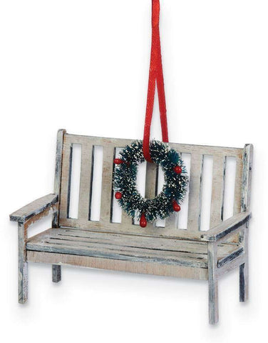 Christmas Bench Ornament