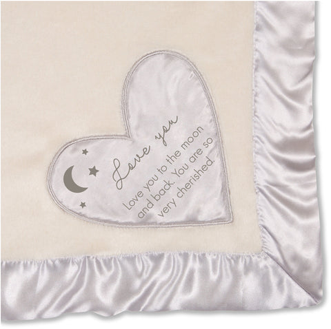 Love You To The Moon Plush Blanket