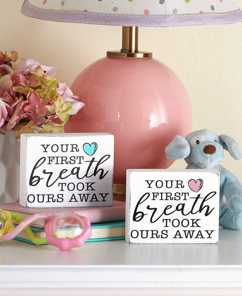 First Breath Baby Sentiment Cubes