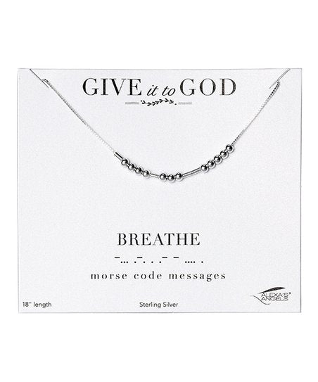 MORSE CODE INSPIRATIONAL BEAD NECKLACE