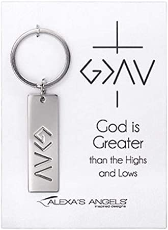 God is greater than Key ring