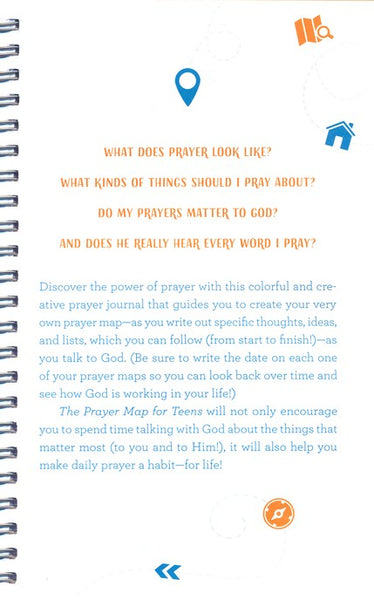 The Prayer Map for Teens - A Creative Journal