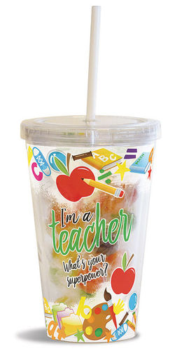 Occasion Straw Drink Cups w/Candy
