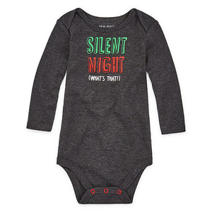 Silent Night Christmas Baby Bodysuit