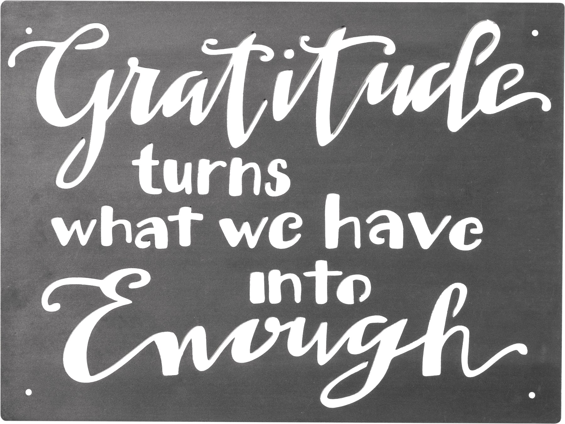 Gratitude Metal Wall Plaque