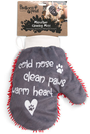 Warm Heart - Microfiber Pet Cleaning Mitt