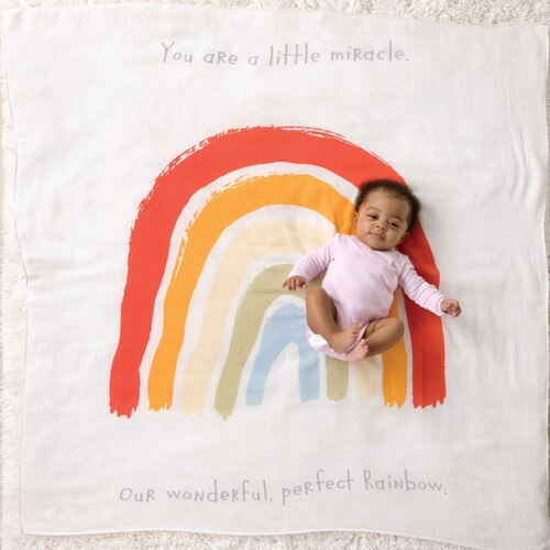 Perfect Rainbow Swaddle Blanket