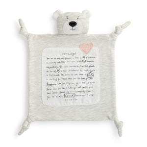 Poetic Bear Mini Blankie