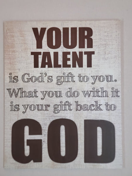 Your Talent Wall Sign