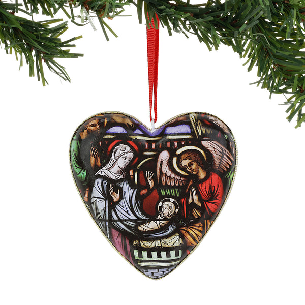 Nativity Heart Ornament